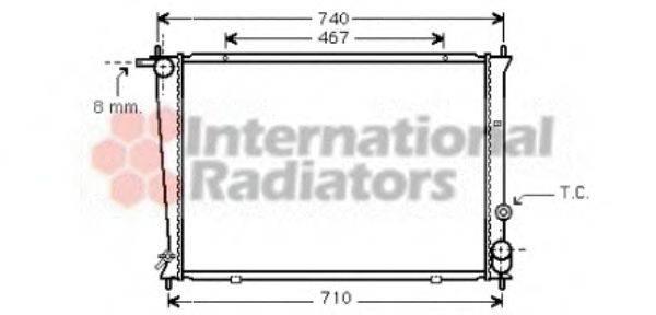 Радиатор, охлаждение двигателя VAN WEZEL 82002049