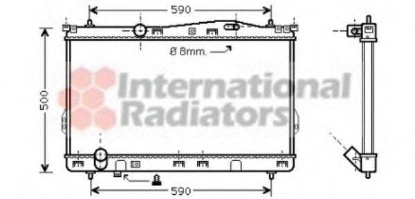 Радиатор, охлаждение двигателя VAN WEZEL 82002077