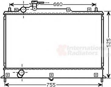 Радиатор, охлаждение двигателя VAN WEZEL 27002255