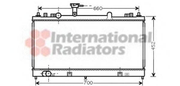 Радиатор, охлаждение двигателя VAN WEZEL 27002162