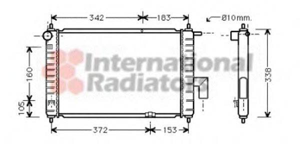 Радиатор, охлаждение двигателя VAN WEZEL 81002046