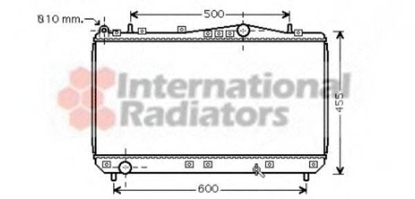 Радиатор, охлаждение двигателя VAN WEZEL 81002052