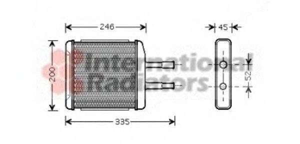 Теплообменник, отопление салона VAN WEZEL 81006059