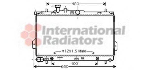 Радиатор, охлаждение двигателя VAN WEZEL 82002096