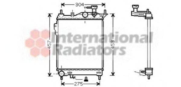 Радиатор, охлаждение двигателя VAN WEZEL 82002099