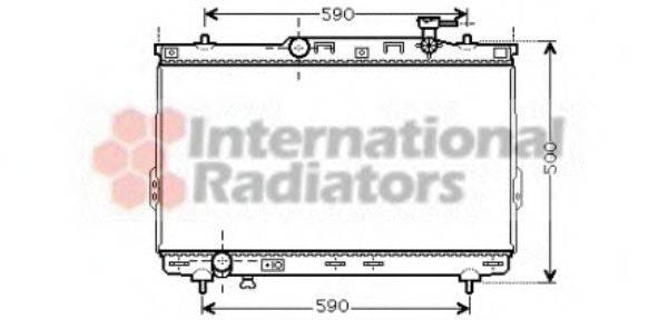 Радиатор, охлаждение двигателя VAN WEZEL 82002109