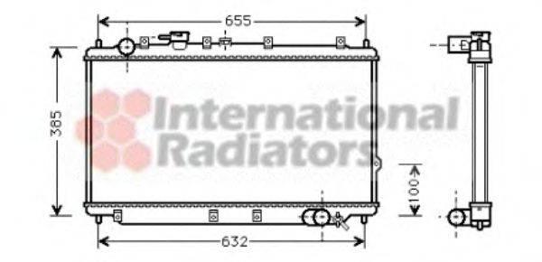 Радиатор, охлаждение двигателя VAN WEZEL 83002016