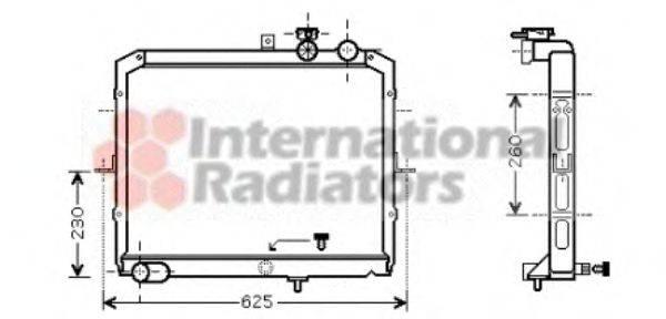 Радиатор, охлаждение двигателя VAN WEZEL 83002033