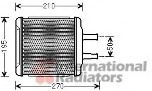 Теплообменник, отопление салона VAN WEZEL 81006088