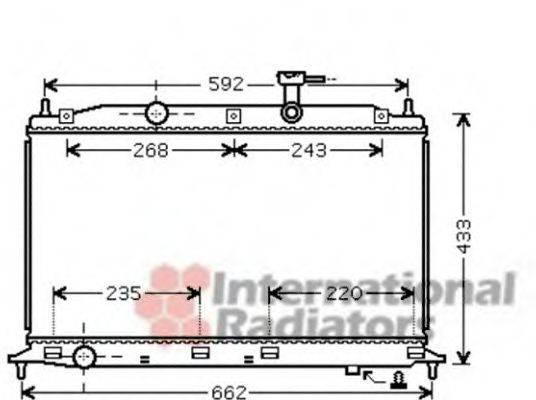 Радиатор, охлаждение двигателя VAN WEZEL 82002188