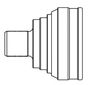 Шарнирный комплект, приводной вал GSP 834048