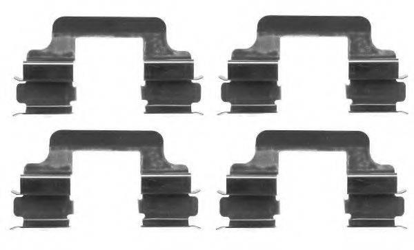 Комплектующие, колодки дискового тормоза TEXTAR 82054900