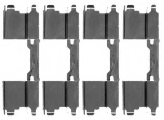 Комплектующие, колодки дискового тормоза TEXTAR 82071000