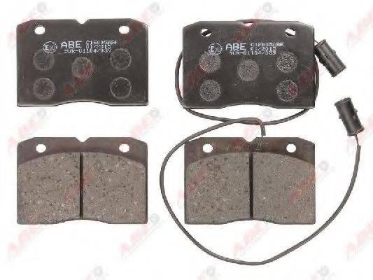 Комплект тормозных колодок, дисковый тормоз ABE C1E005ABE