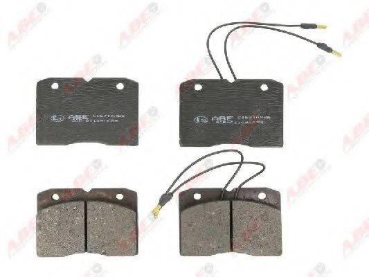 Комплект тормозных колодок, дисковый тормоз ABE C1E010ABE
