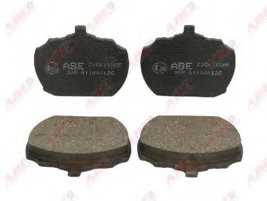 Комплект тормозных колодок, дисковый тормоз ABE C1G011ABE