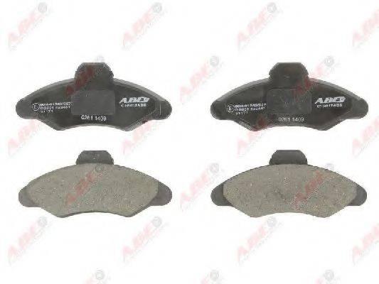 Комплект тормозных колодок, дисковый тормоз ABE C1G017ABE