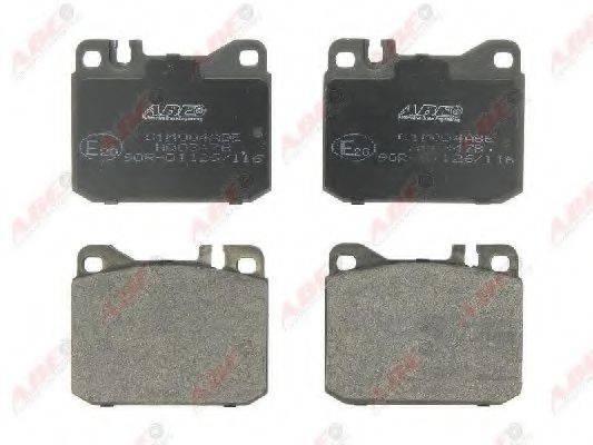 Комплект тормозных колодок, дисковый тормоз ABE C1M004ABE