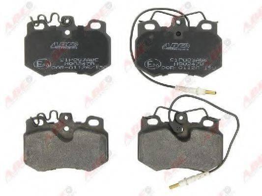 Комплект тормозных колодок, дисковый тормоз ABE C1P003ABE