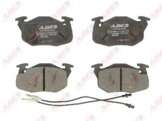 Комплект тормозных колодок, дисковый тормоз ABE C1P005ABE