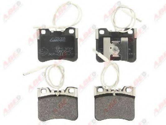 Комплект тормозных колодок, дисковый тормоз ABE C1P013ABE