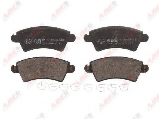 Комплект тормозных колодок, дисковый тормоз ABE C1P041ABE