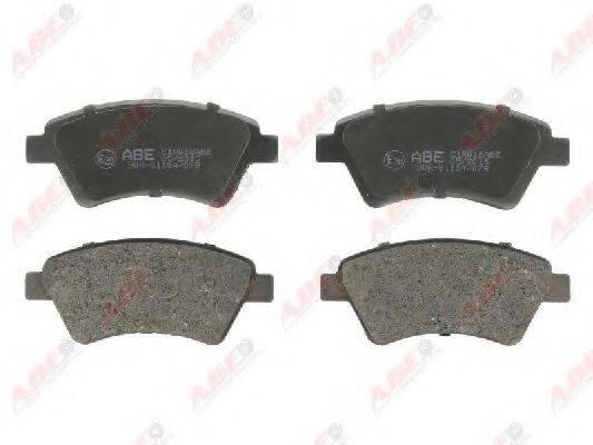 Комплект тормозных колодок, дисковый тормоз ABE C1R018ABE