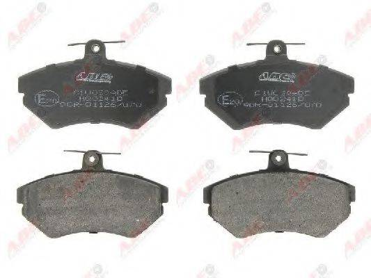 Комплект тормозных колодок, дисковый тормоз ABE C1W038ABE