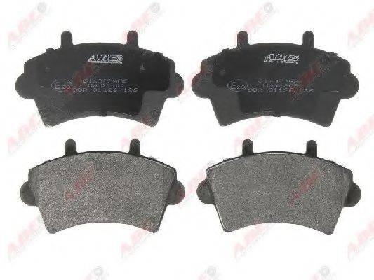Комплект тормозных колодок, дисковый тормоз ABE C1X023ABE