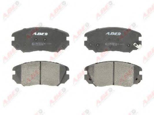 Комплект тормозных колодок, дисковый тормоз ABE C1X038ABE