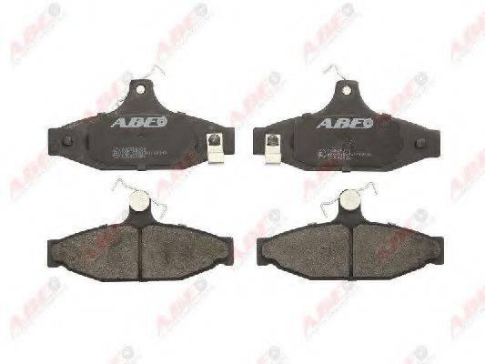 Комплект тормозных колодок, дисковый тормоз ABE C20003ABE