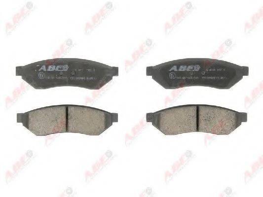 Комплект тормозных колодок, дисковый тормоз ABE C20005ABE