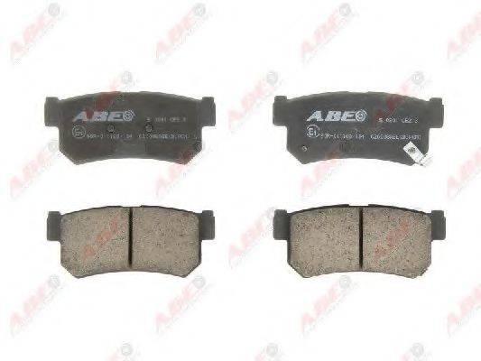 Комплект тормозных колодок, дисковый тормоз ABE C20008ABE