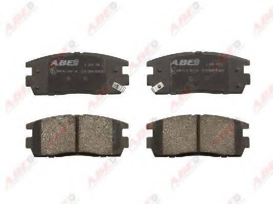 Комплект тормозных колодок, дисковый тормоз ABE C20012ABE