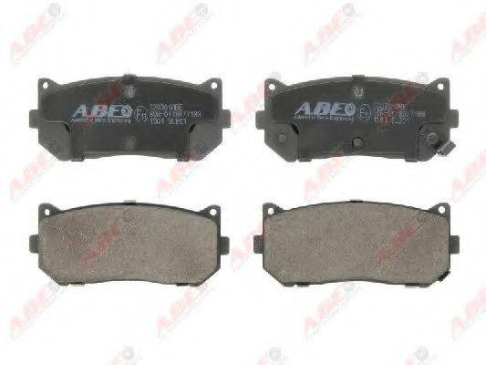 Комплект тормозных колодок, дисковый тормоз ABE C20301ABE