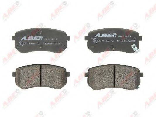 Комплект тормозных колодок, дисковый тормоз ABE C20307ABE