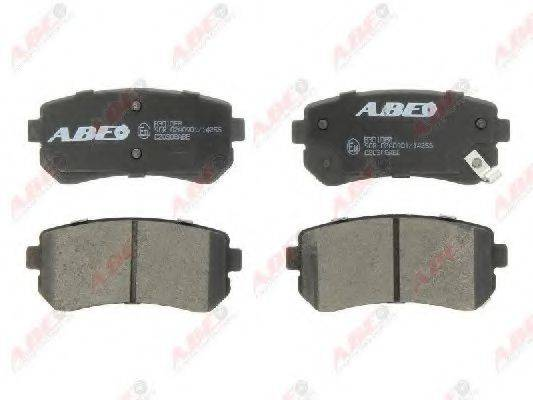 Комплект тормозных колодок, дисковый тормоз ABE C20308ABE