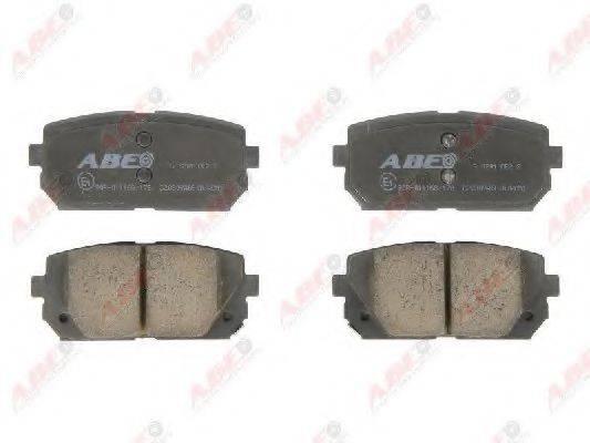 Комплект тормозных колодок, дисковый тормоз ABE C20309ABE