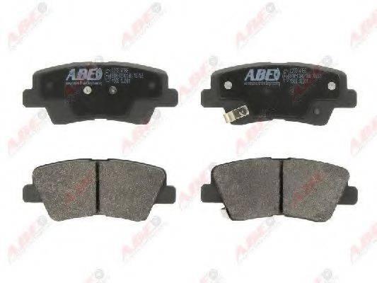 Комплект тормозных колодок, дисковый тормоз ABE C20314ABE