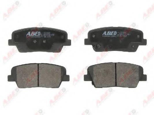Комплект тормозных колодок, дисковый тормоз ABE C20316ABE