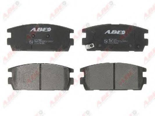 Комплект тормозных колодок, дисковый тормоз ABE C20506ABE