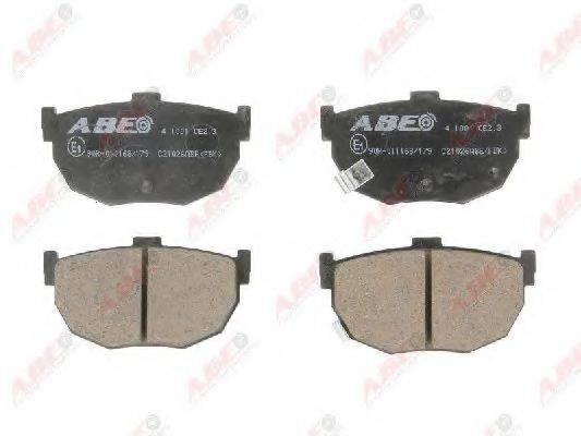 Комплект тормозных колодок, дисковый тормоз ABE C21026ABE