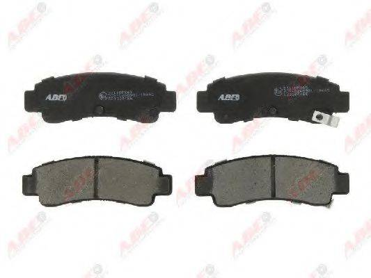 Комплект тормозных колодок, дисковый тормоз ABE C21034ABE