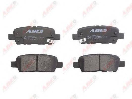 Комплект тормозных колодок, дисковый тормоз ABE C21042ABE