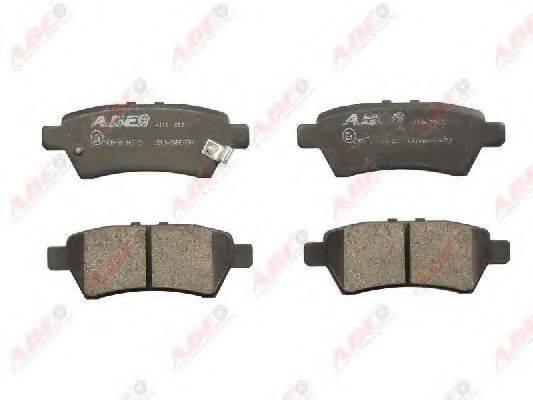 Комплект тормозных колодок, дисковый тормоз ABE C21046ABE