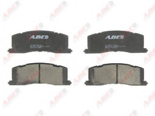 Комплект тормозных колодок, дисковый тормоз ABE C22011ABE