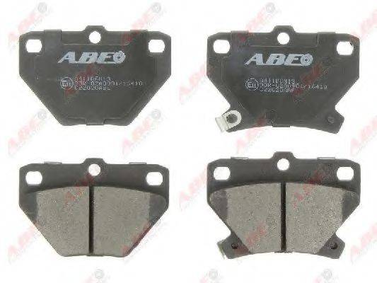 Комплект тормозных колодок, дисковый тормоз ABE C22020ABE