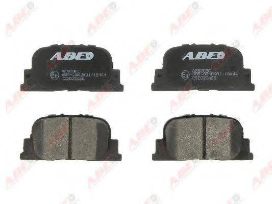 Комплект тормозных колодок, дисковый тормоз ABE C22022ABE