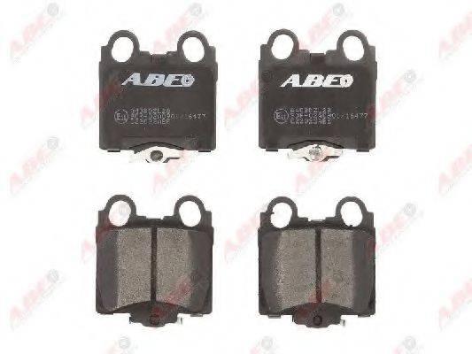 Комплект тормозных колодок, дисковый тормоз ABE C22023ABE