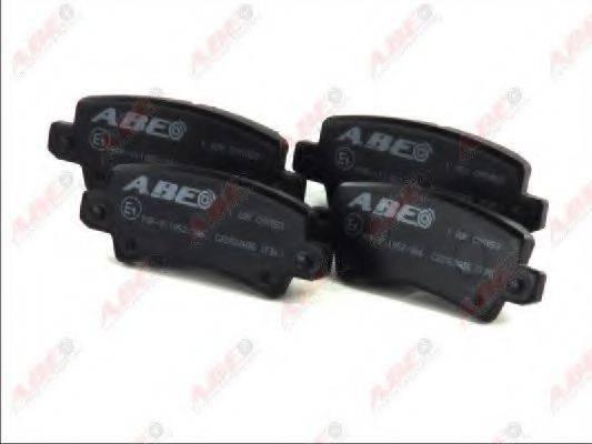 Комплект тормозных колодок, дисковый тормоз ABE C22028ABE